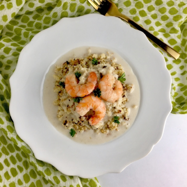 Shrimp & Garlic Cream Sauce over Roasted Cauli Rice.jpg
