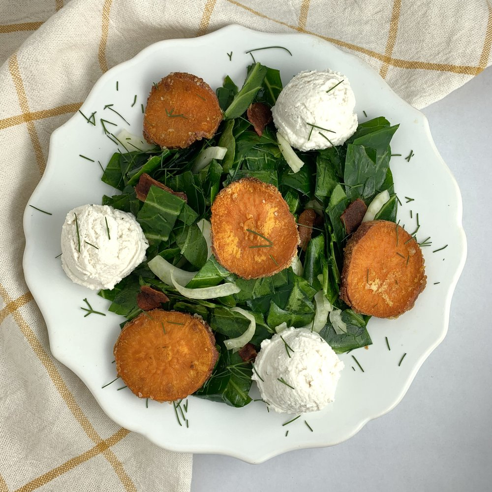 Massaged Greens Salad with Fennel and Roasted Sweet Potatoes.jpg