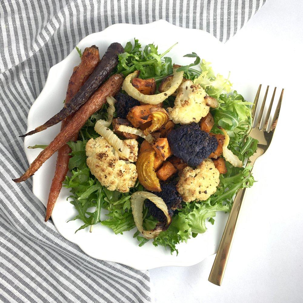 Roasted Veggies and Fennel Salad with Sweet Lemon Viniagrette.jpg