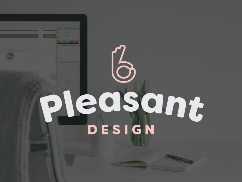 Pleasant Design Co. - We did our own logo & brand identity! Learn more about the process we went through to design our own stuff.