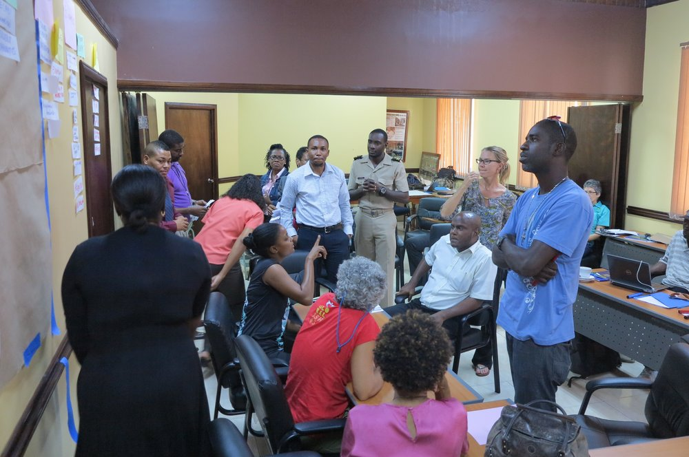Visioning exercises for the Pedro Bank Jamaica MSP - appropriate stakeholder engagement, two-way learning and ultimately builds our capacity to meaningfully participate in environmental management.