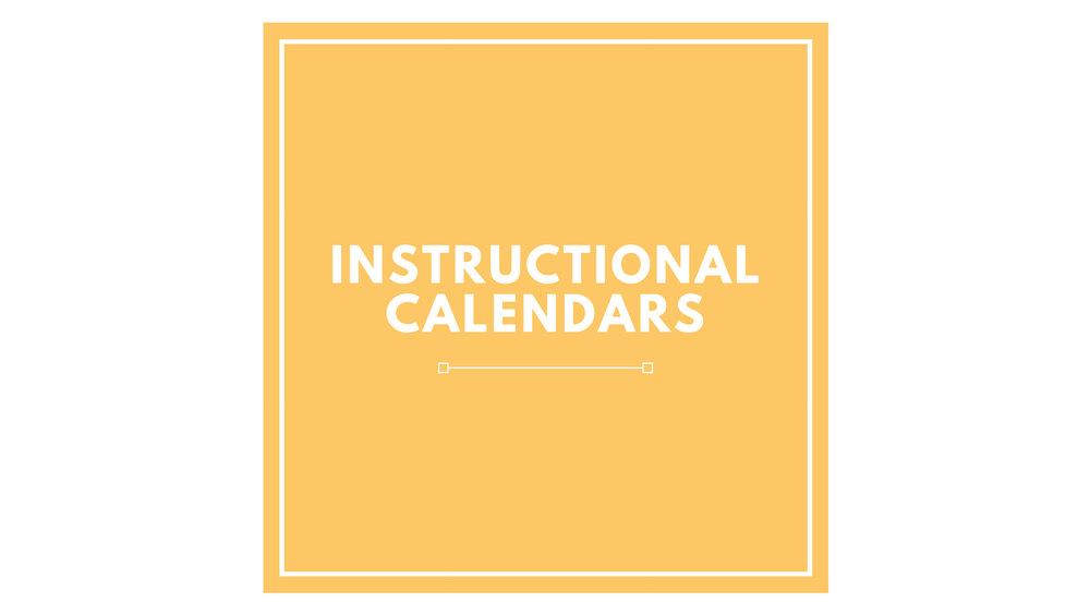 PK-2 Instructional Calendars