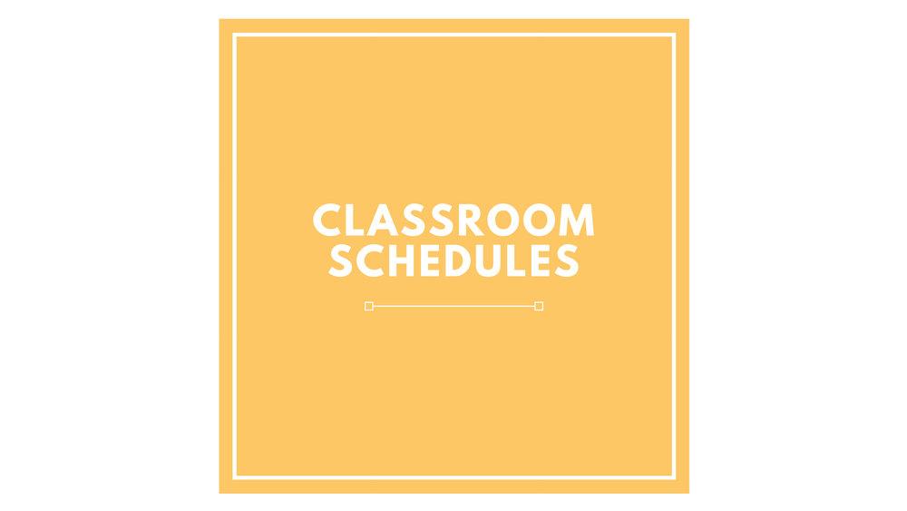 PK Classroom Schedules