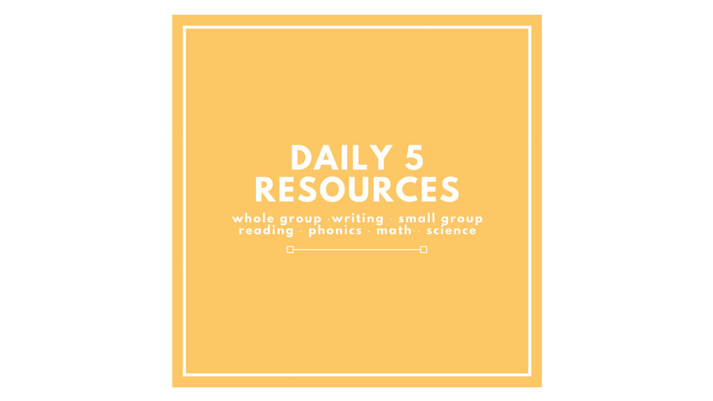 pk-daily-5 resources