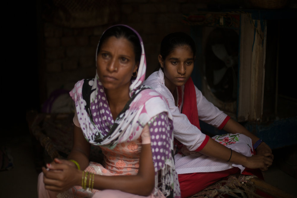 """When Tania told her mother that a boy had pulled off her chunni (long scarf) on the way to school, her mother felt powerless: """"We are poor people. We don't have the ability to fight, so we told our daughter to stay at home."""""""