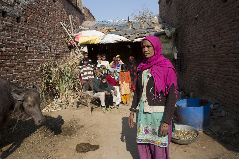 Imrana is the wife of Tahir, one of Jahed's four sons each having their own separate family unit. Yet the surveyors sanctioned compensation only to her father in law recognising them only as one unit of 16 living together. Idhries baigh, Shahpur in Muzzafarnagar.