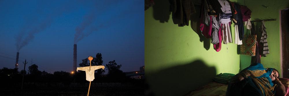 LEFT: ANPARA THERMAL POWER PLANT  RIGHT: RAJKUMAR DEVI, ANPARA TOWN