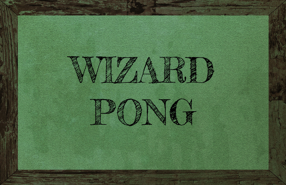 wizard pong  No levitation spells permitted. Make sure to sharpen your wrist swish and flicks beforehand, because this game can get brutal!