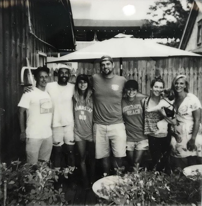 The original members (from left to right) Scott Bluedorn, Peter Treiber, Kara Hoblin, Jeremy Garretson, Madison Fender, Kelly Franke, Emma Ballou, August 2017