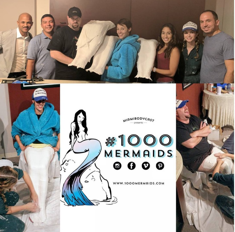 MIAMI BODY CAST (#1000Mermaids) And @Choose954 had a chance to visit 104.3 the Shark and cast Toast and Ashley O live on air. It was a great time for everybody and toast even got a free leg wax. Thank you Shark Radio and their fans for giving us the opportunity to promote our 1000 mermaid project over the radio waves throughout South Florida.