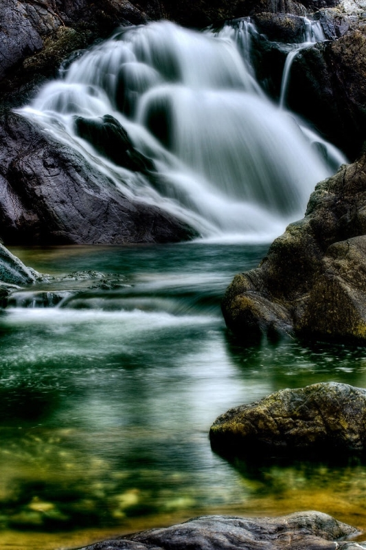 Waterfall of Erro. Sassello, Italy