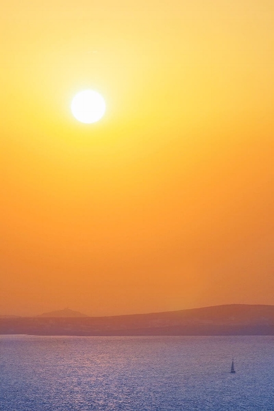 Greek sunset. Naxos, Cyclades