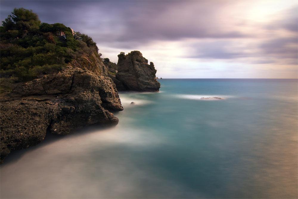 Seascape of Buco del Prete. Albisola Superiore, Italy