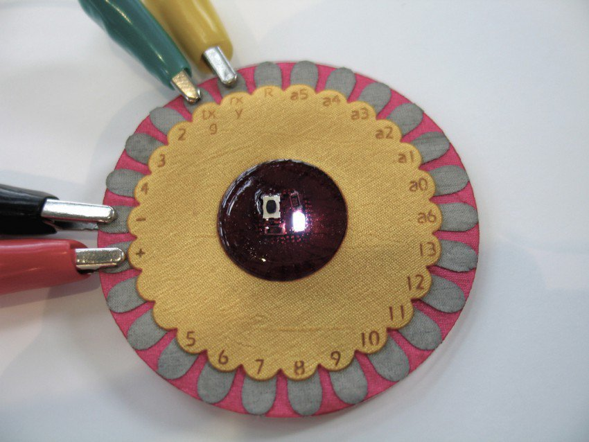 LilyPad prototype image by Leah Buechley (via Flickr)