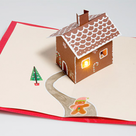 Let It Glow Holiday Cards - Craft a glowing card for the holiday season with paper circuits - no soldering required!