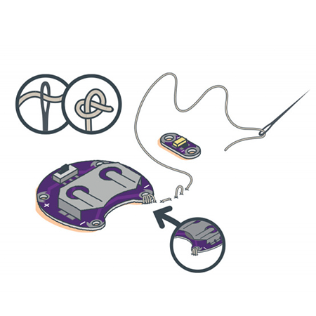 LilyPad Basics:E-Sewing - Learn how to use conductive thread with LilyPad components.