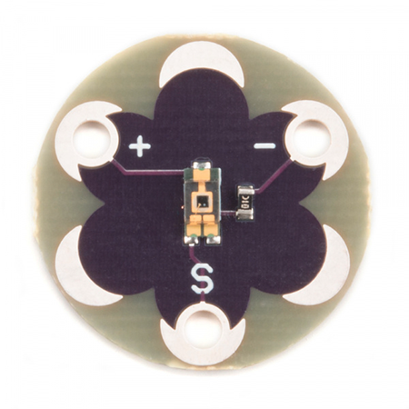 LilyPad Light Sensor HookuP Guide - How to use the LilyPad Light Sensor with some example code.