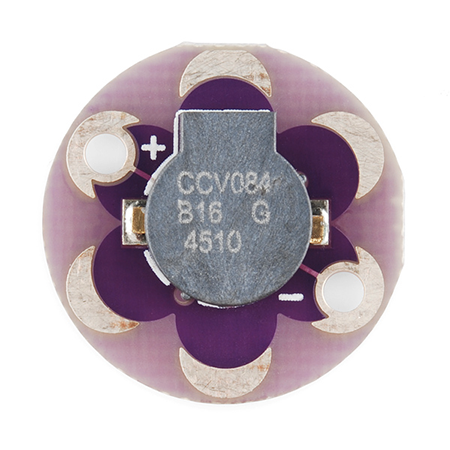 LilyPAd Buzzer hookup Guide - How to hook up the LilyPad Buzzer and make sound with code.