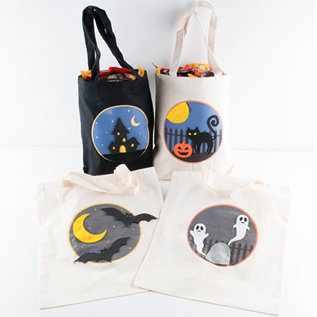 Twinkling Trick or Treat Bags - Make a light up goodie bag with conductive thread, LEDs, and the LilyTwinkle!