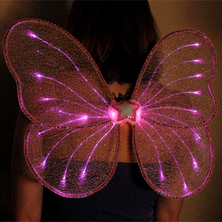 LightWings: Fiber Optic Fairy Wings - Add some glamour to your fairy costume using fiber optics.
