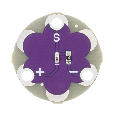 LilYpad light sensor v2 Hookup Guide - How to hook up the LilyPad Light Sensor as well as some project ideas and example code.