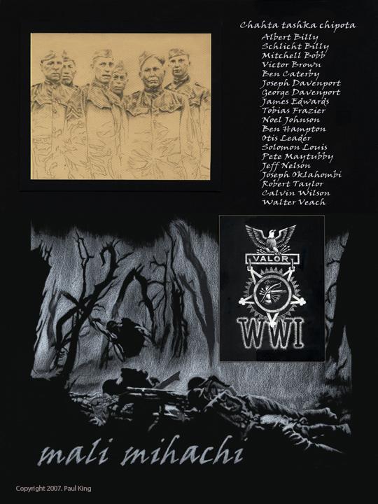 """Wind Talkers"" by Choctaw artist Paul King ."