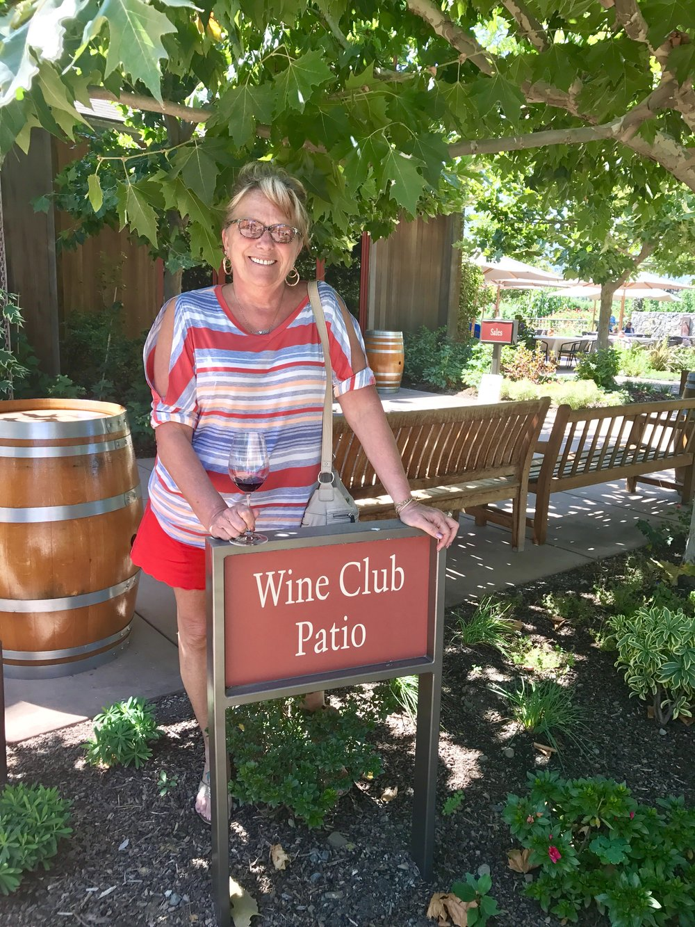 My mom at Cakebread Cellars