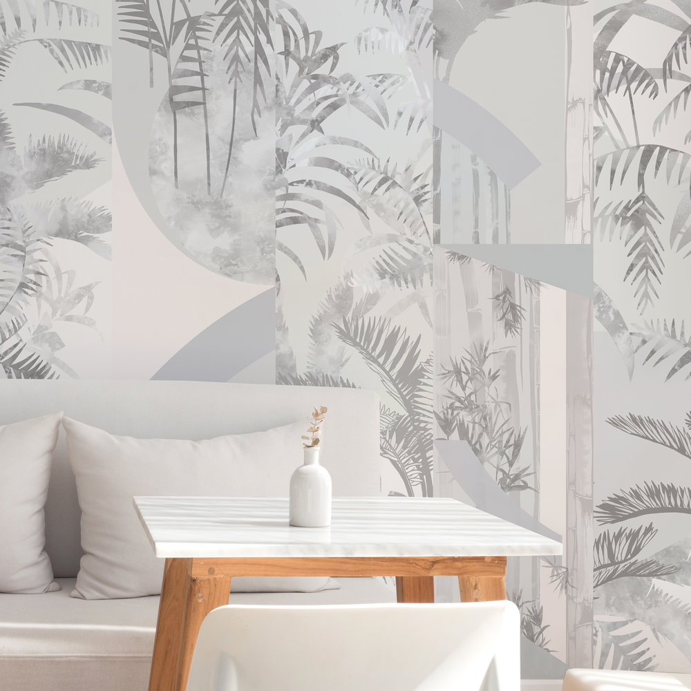 Design combination featuring Jungle and Rise wallpapers.
