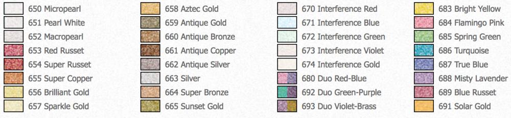 Pearl Ex 32 Color Set Review Color Chart Jw Lettering