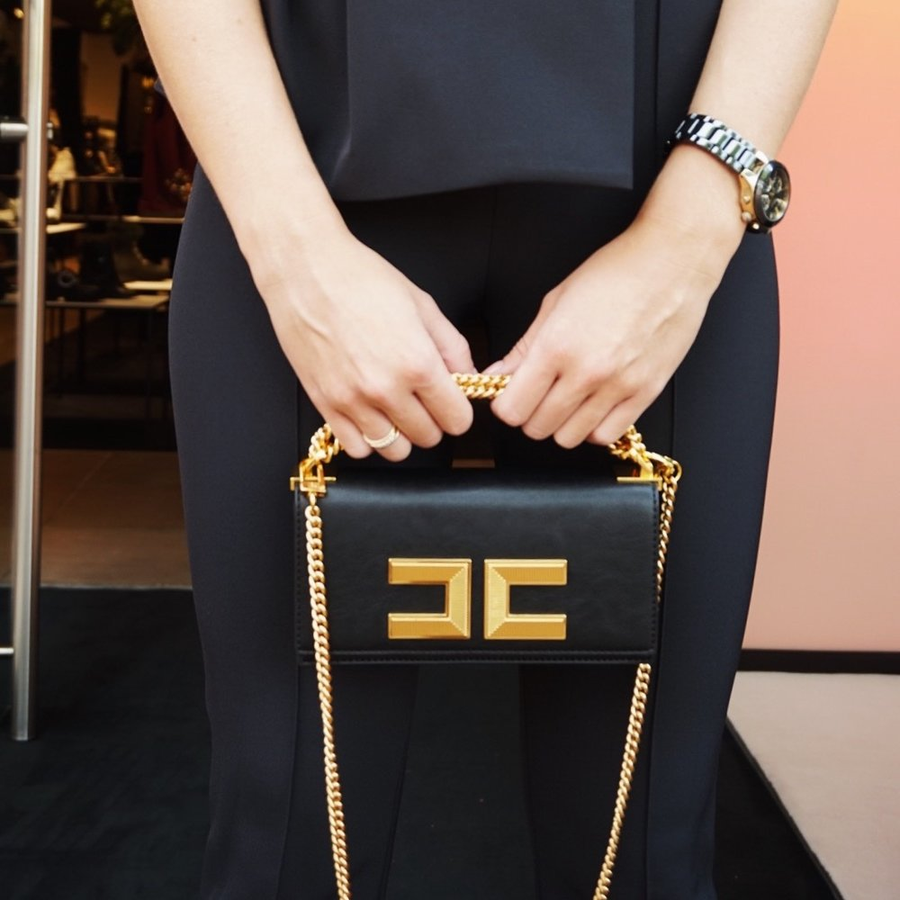 elisabetta franchi   - THE LOGO BAG.