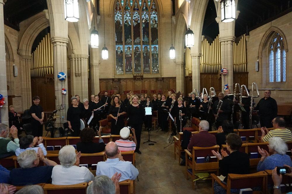 Metropolitan Flute Orchestra, performing in Glasgow, Scotland