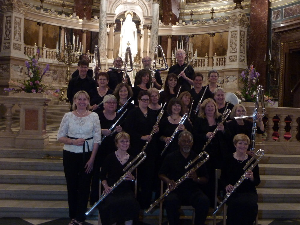 Metropolitan Flute Orchestra in concert at St. Stephen's Basilica in Budapest, Hungary