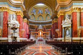 Interior of St. Stephen's Basilica in Budapest