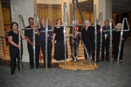 Contrabass flutes at the National Flute Association convention in Charlotte, NC, 2011