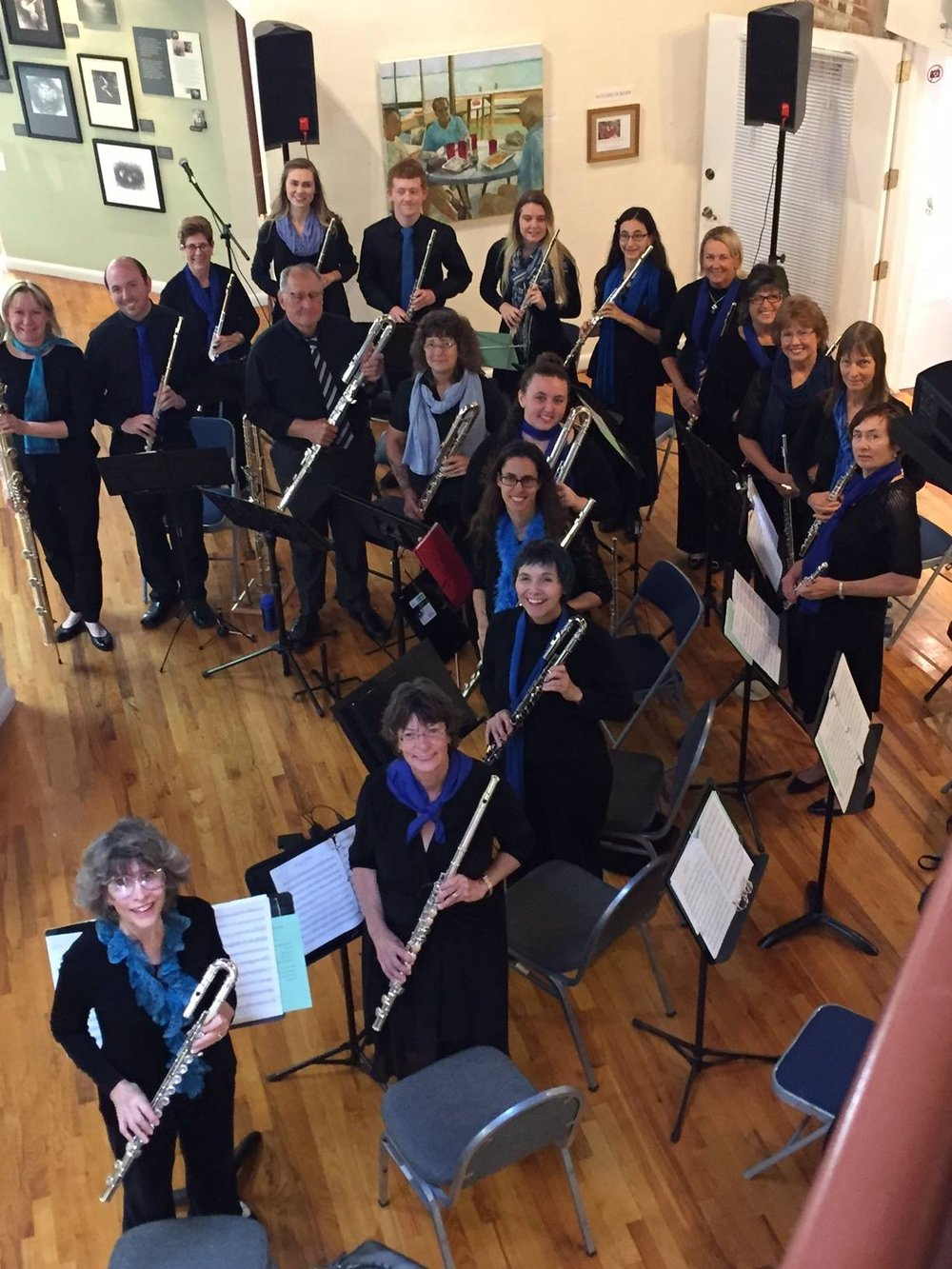 Daytona State College and Community Flute Choir at The Hub Art Gallery in New Smyrna Beach, FL