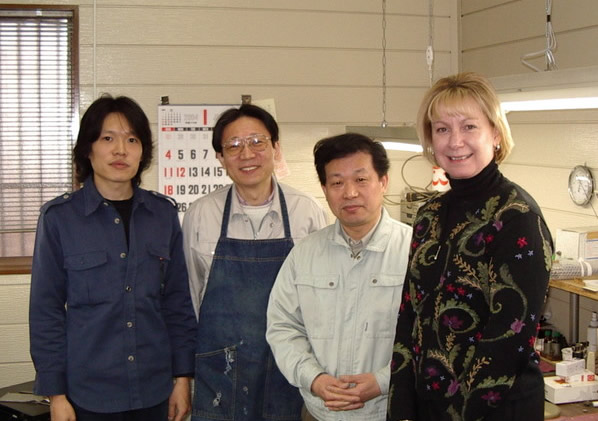 Visiting the Kotato and Fukushima shop in Japan, January 2004