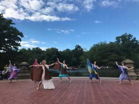 Dance Visions NY performing at Bethesda Fountain for Isadora Duncan's birthday