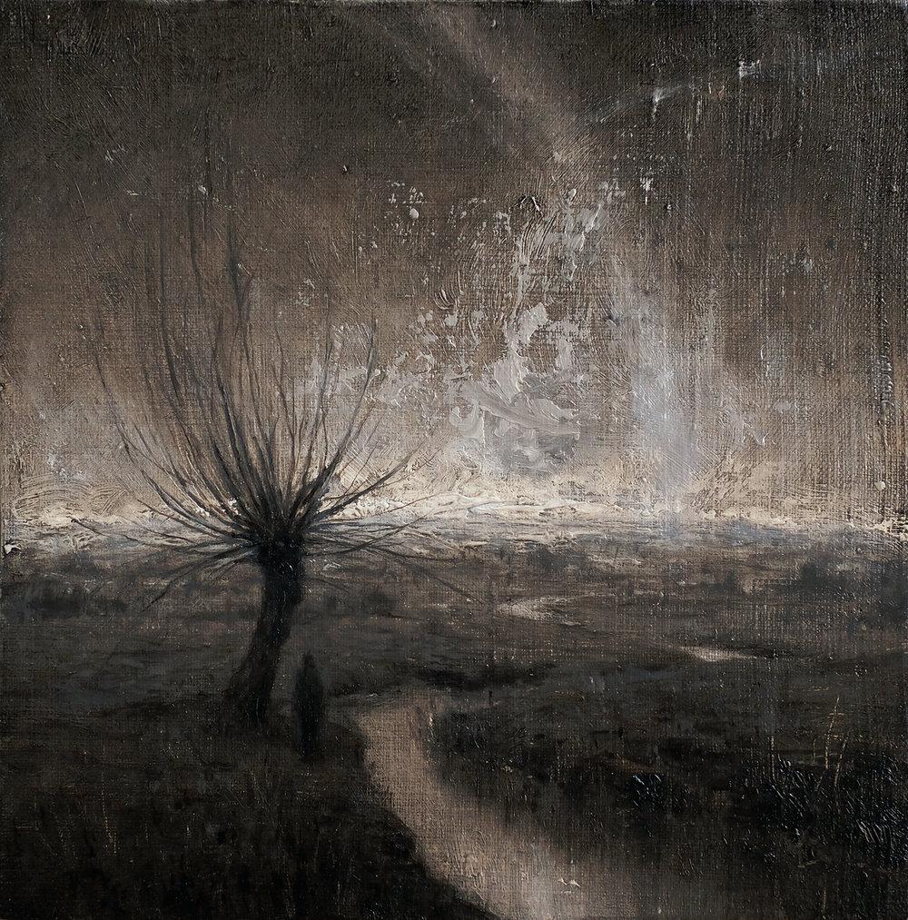 Oil on canvas, 22 x 22 cm. Available.