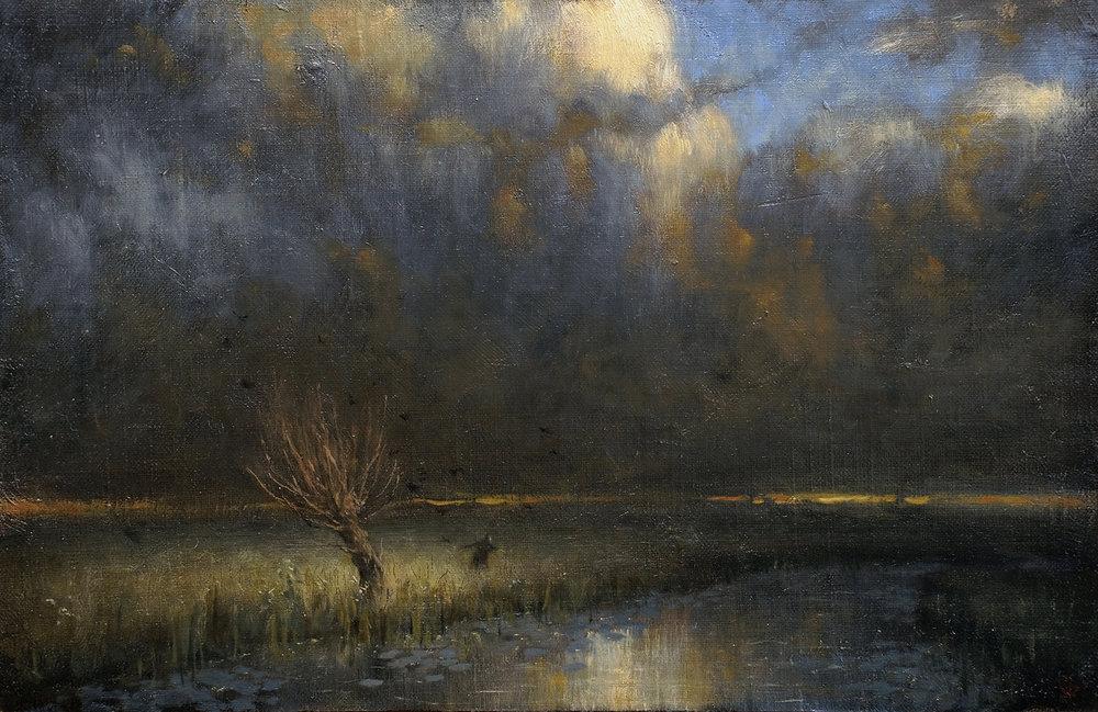 Oil on canvas, 34 x 22 cm. Available.