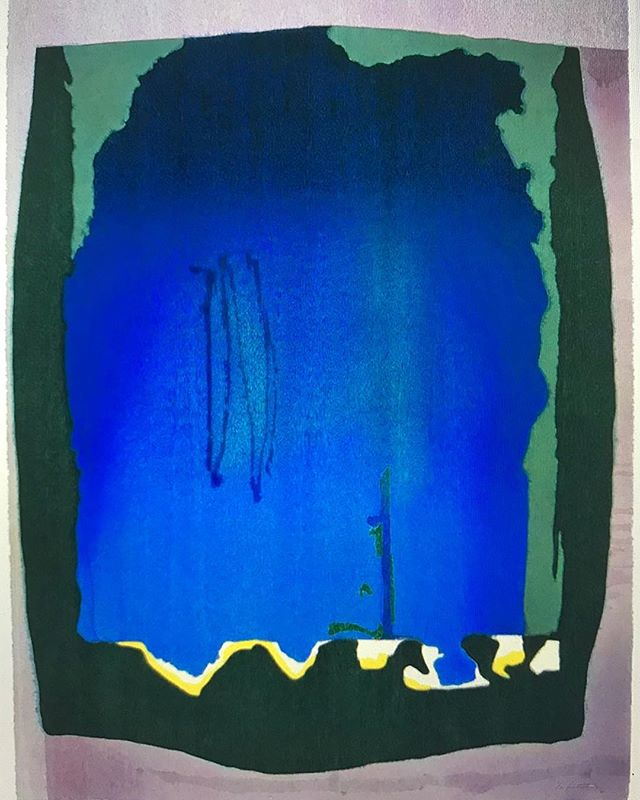 HarryLou Loves❤️ Helen Frankenthaler Woodcuts In the late 70s or early 80s, I first experienced the woodcut prints of Helen Frankenthaler, was awed especially with the ones I considered monumental, and fell deeply in love. They were spare, yet used multiple colors achieved by multiple blocks; some prints incorporated the untouched grain of the wood. At the time, I decided that because she was a painter of large, lush abstract works and managed, somehow, to bring those qualities to a medium which was traditionally restrictive—that painters must be the best printmakers. I'm still in love. You can find out more at http://frankenthalerfoundation.org and read about Frankenthaler in Mary Gabriel's, recently published, Ninth Street Women. Free Fall, 1993 Hand-dyed paper in 15 colors and 12 color woodcut from 1 plate of 21 woodblocks_78.5 x 60.5 in Tales of Genji III, 1998 Fifty-three color woodcut from 18 woodblocks 47 x 42 in Tales of Genji V, 1998  Forty-nine color woodcut from 21 woodblocks  42 x 47 in Cedar Hill, 1983 Ten color woodcut fr 13 woodblocks 20.25 x 24.75 in  #HarryLouLoves #HelenFrankenthaler #worksonpaper #NinthStreetWomen #HarryLouWorksOnPaper