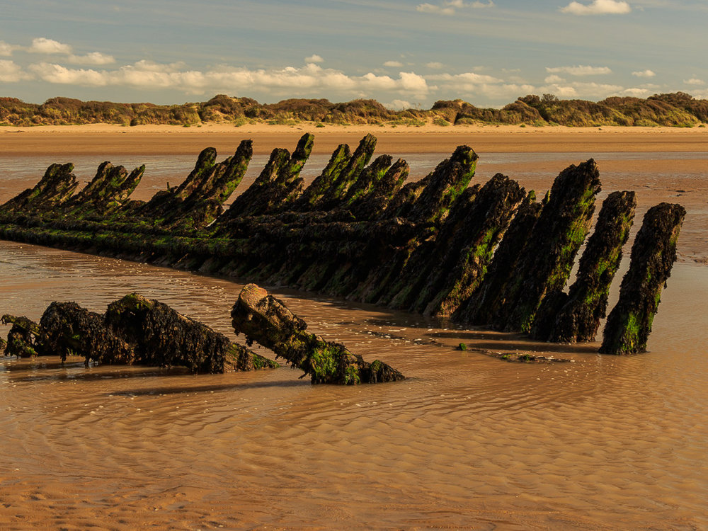 A view of what's left of the stern of the Nornen, I suppose because it's arse is facing the incoming tide, it's taken the brunt of the tide over the last 120 years.