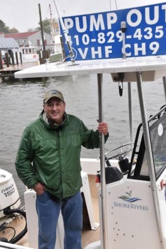 Pumpout boat captain Jim Freeman