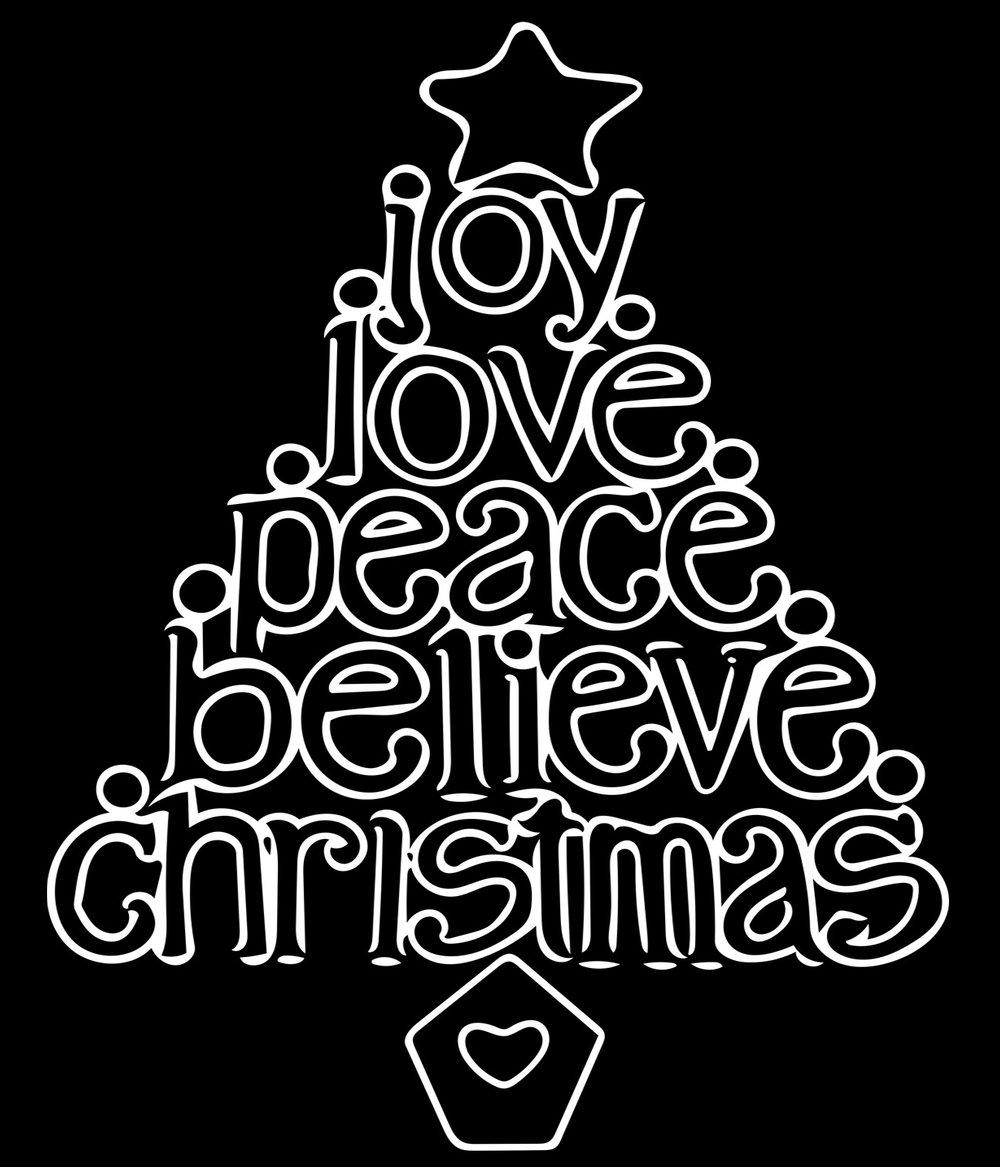 Christmas // Joy Tree // 18x21 // $65