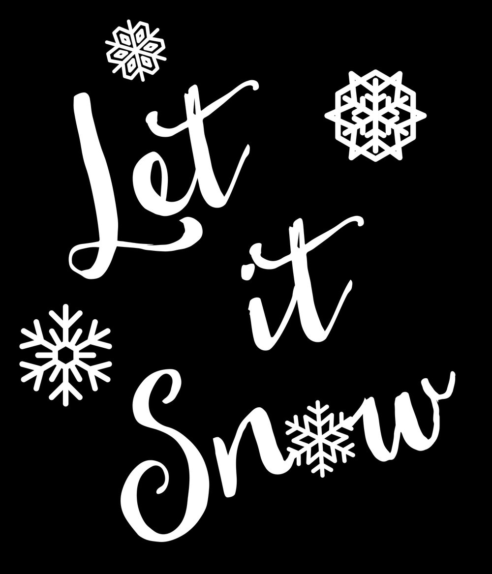 Christmas // Let it Snow // 18x21 // $65