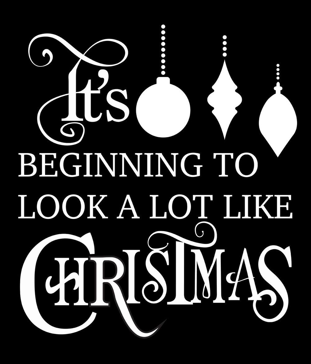 Christmas // Look A Lot Like Christmas // 18x21 // $65
