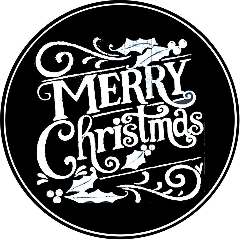 "Christmas // Merry Christmas Round // 24"" Round // $75-$85"