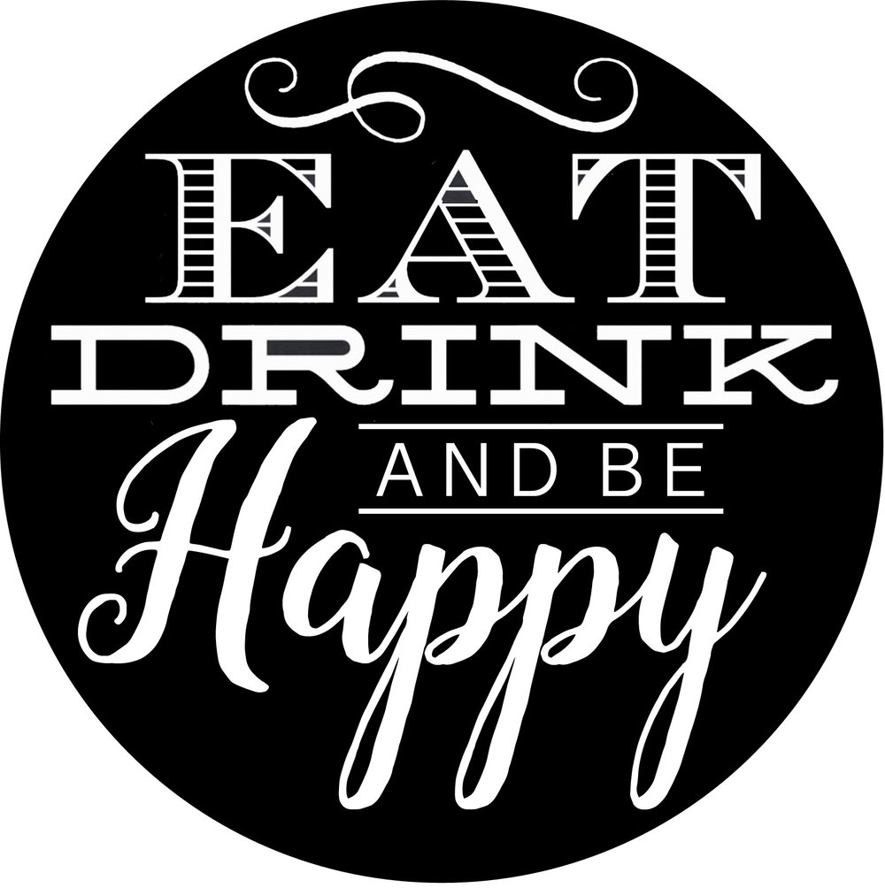 Culinary // Eat, Drink, Be Happy Round // 18x21 // $75