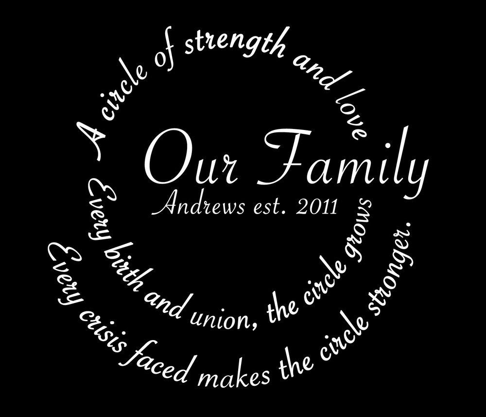 Family // Our Family Circle // 18x21 // $65