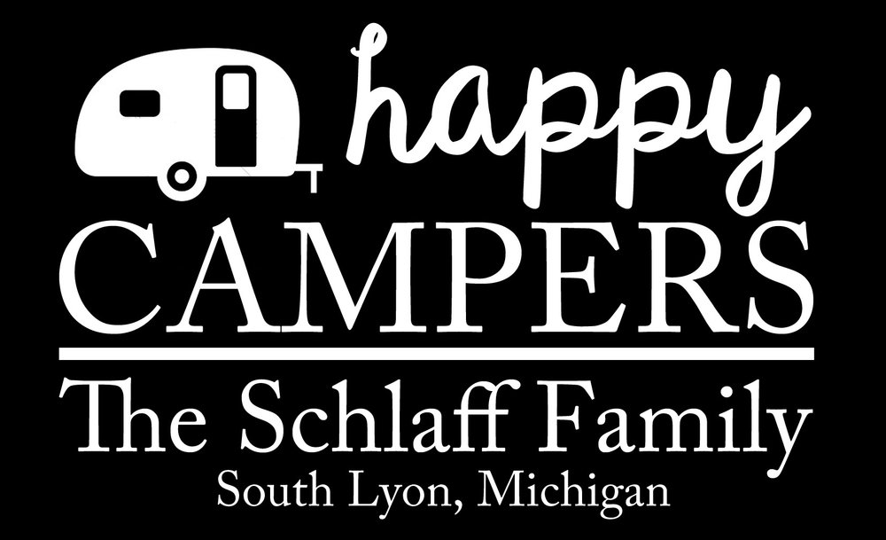 Family // Happy Campers // 14x23 // $65