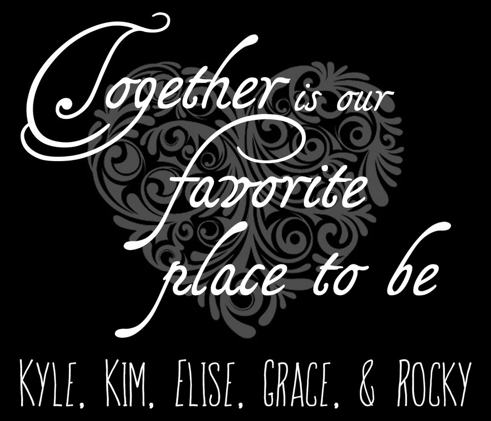 Family // Together is Our Favorite // 18x21 // $75